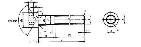 内六角螺栓结构图