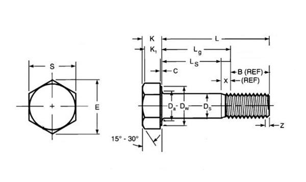 超长螺栓结构图