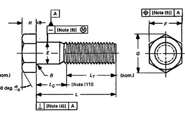 高强度镀锌螺栓结构图