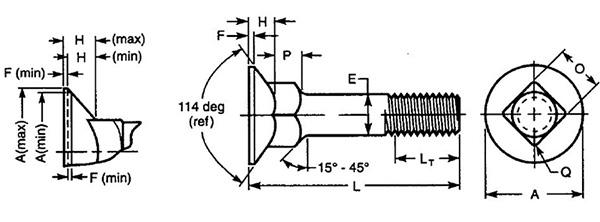 工程机械螺栓结构图