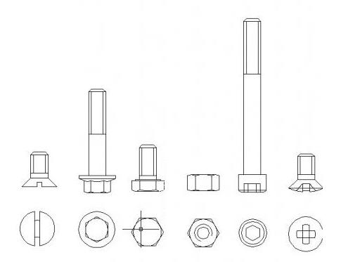 汽车螺栓结构图