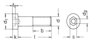 图文详解内六角螺栓画法
